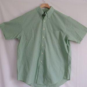Brooks Brothers Green Check Short Sleeve Shirt L